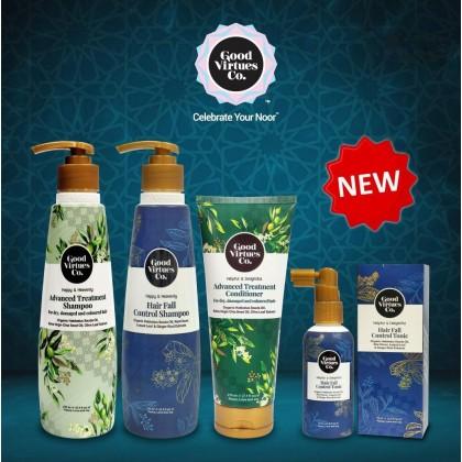 Good Virtues Co Happy & Heavenly Advanced Treatment Shampoo 275ml Halal For Dry Damaged Coloured Hair Soften Super Nourishing