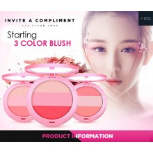 By Nanda 3 Colour Blush (B21)