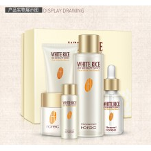 Rorec Rice Tender & Nourishing Set (Cleanser, Toner, Lotion, Cream, Essence)