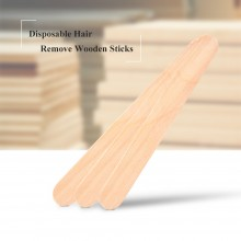 Wooden Spatula 10PCS Tongue Depressor Disposable Bamboo Hair Removal Stick (C42)