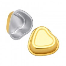 Aluminum Foil Melting Wax Small Bowl Gold Heart-shaped