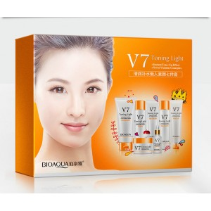 G9 BIOAQUA 7Pcs V7 Set Skin Care Toner Essence BB Cream Cleanser Beauty Gift Set (D31)
