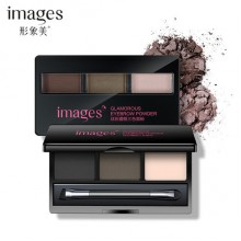 G9 IMAGES Professional 3 Color Eyebrow Powder Palette Waterproof Eyebrow Enhancer With Brushes