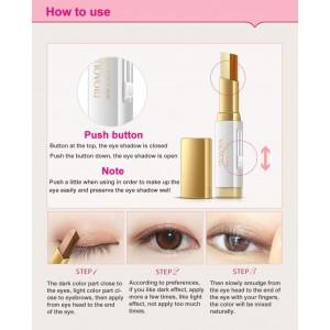 G9 BIOAQUA Double Color Eye Shadow Glitter Waterproof Long Lasting Professional Eye Make Up Tools