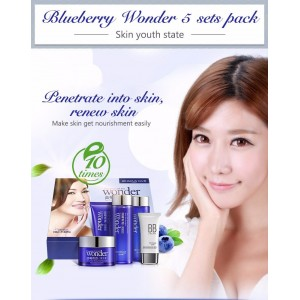 BIOAQUA Blueberry Wonder 5 Piece Gift Box Skincare Set (D43)