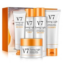 BIOAQUA V7 Toning Light 5 Pieces Skincare Gift Box Set (D31)