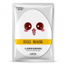 ROREC Egg Facial Mask Moist And Soft Egg Mask 1 Piece (D32)