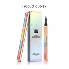 SENANA 4D Starry Sky Eyeliner Waterproof Sweatproof Eye Liner Liquid Make Up Black Lasting Quick Drying Smooth