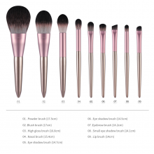 Champagne Makeup Brushes 9Pcs SET For Foundation Powder Blush Eyeshadow Concealer Lip Eye Make Up Brush Cosmetics Brush Beauty Tools