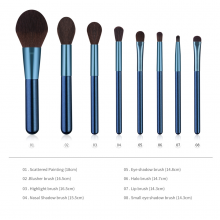 8pcs Sakura Blue Make up Brushes Makeup Brush Set Professional Fashion Kits Cosmetic tools Kit
