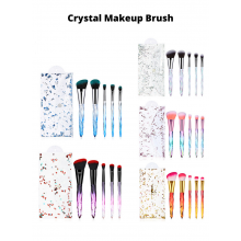 Unicorn 5Pcs Crystal Makeup Brushes Set Powder Foundation Eye Blush Brush Cosmetic Professional Makeup Brush Kit
