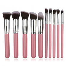 10Pcs Makeup Brush Set Makeup Brushes Soft Two Tone Synthetic Brush Eyeshadow Eyebrow Lip Brush
