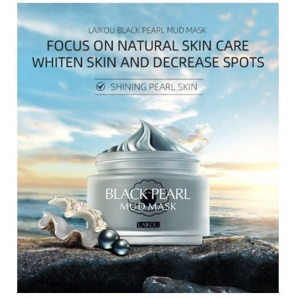 G9 LAIKOU Black Pearl Face Mask Deep Cleansing Shrink Pores Volcanic Mud Whitening Moisturizing Exfoliate oil Control Mask Care 85g