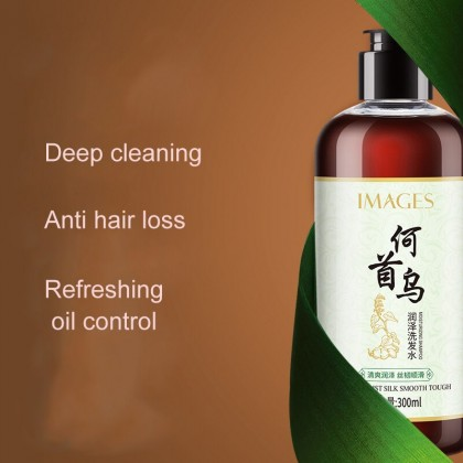 IMAGES Ginseng Polygonum multiflorum Shampoo Anti Dandruff Hair Glossy Scalp Treatment and  Oil Control 300ml