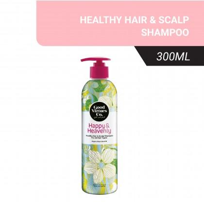 Good Virtues Co Healthy Hair & Scalp Shampoo For All Hair Types 300ml Halal Hair Wash