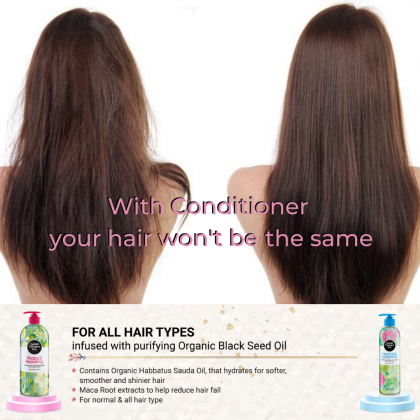 Good Virtues Co Healthy Nice Pretty Halal Hair & Scalp Conditioner For All Hair Types 300ml