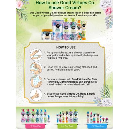 Good Virtues Co GVC Lightening & Hydrating Shower Cream 700ml