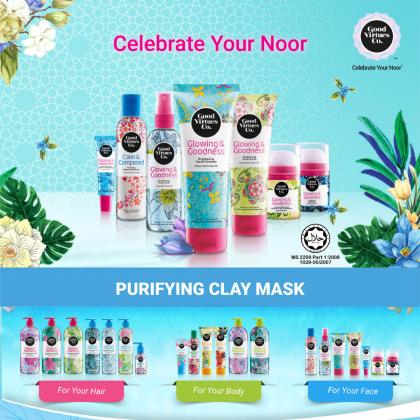 G9 Good Virtues Co Purifying Clay Mask 100ml Women Facial Skincare Clean Face Oil Dust Reduce Blackhead