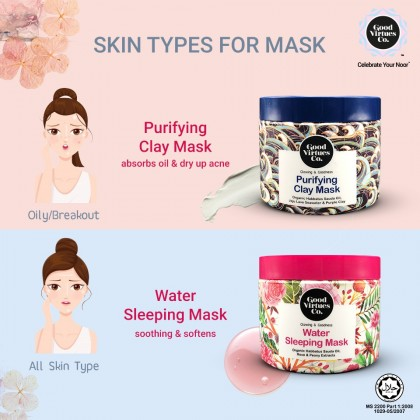 G9 Good Virtues Co Water Sleeping Mask 100ml Women Facial Glowing Skincare Moisturizing Moisture Skin