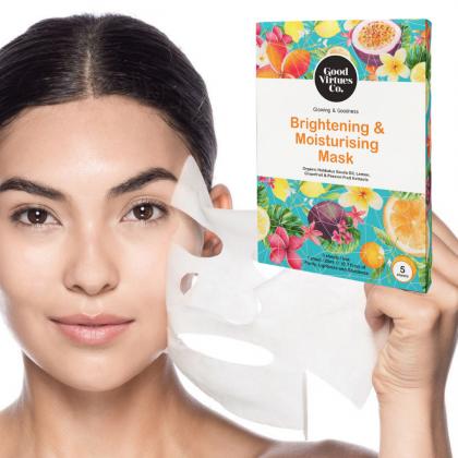 G9 Good Virtues Co. Brightening & Moisturising Mask 5pcs Box Women Halal Facial Mask Made in Malaysia