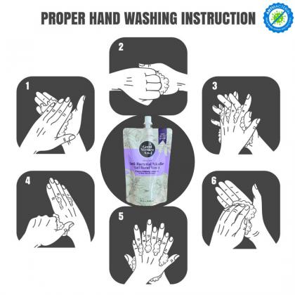 Good Virtues Co Anti Bacterial Micellar Gel Hand Wash Refill 250ml Kills 99.9% Germs