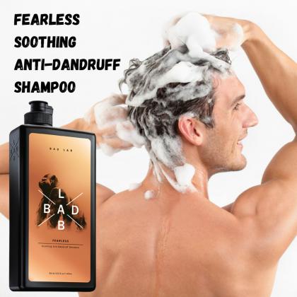 Bad Lab Fearless Soothing Anti-Dandruff Shampoo 400ml Halal Men Hair Care Shampoo Oily Hair Dandruff
